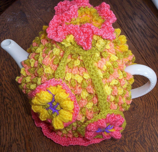 Crochet Bobble Stitch : Tunisian crochet bobble stitch tea cozy Crochet cozies Pinterest