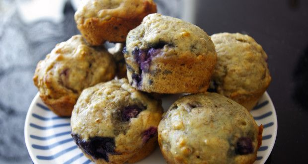 ... these today...amazing!! :) Blueberry Banana Greek Yogurt Muffins