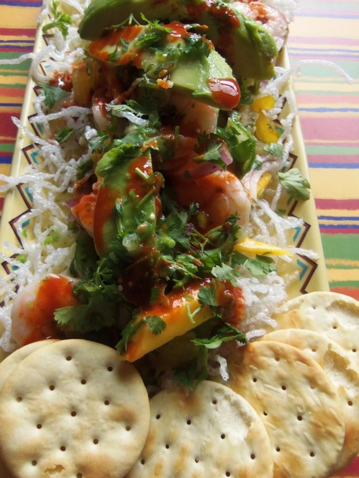 Tropical Shrimp Ceviche in Agua Chile - Hispanic Kitchen