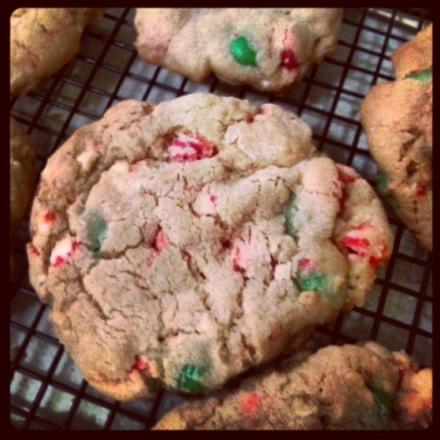 cookies but add crushed candy canes m amp m s and white chocolate ...