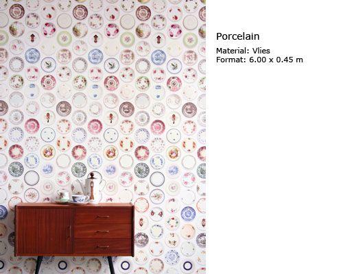 Hurter Designers Tapeten : Porcelain Wall Plates
