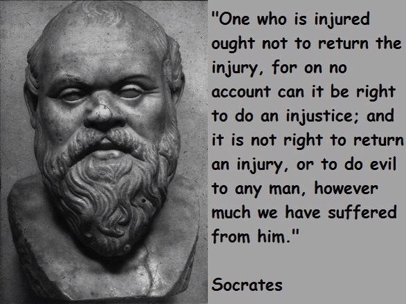 the great greek philosopher socrates said When plato died, aristotle became the tutor of alexander the great, who  why  then do you say to me, 'make yourself like unto the many.