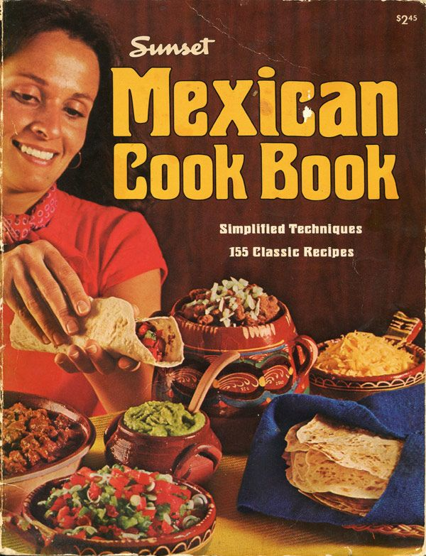 Cover Page For Cookbook ~ Retro mexican cookbook cover page