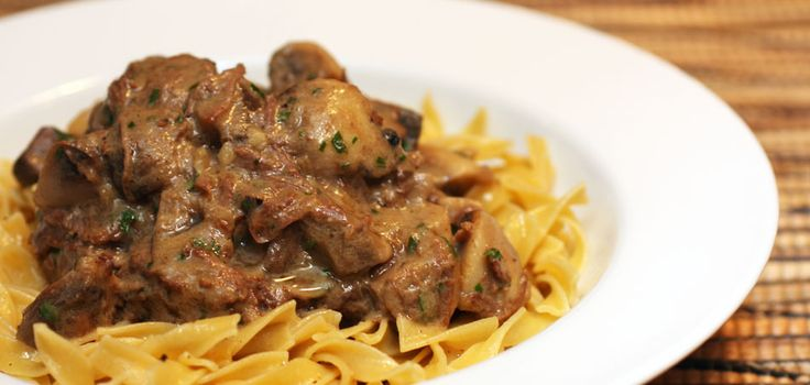 ... » Archive » Classic Beef Stroganoff with Buttered Egg Noodles