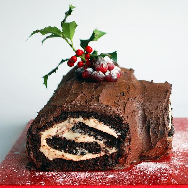 Vegan Yule Log   Christmas   Pinterest