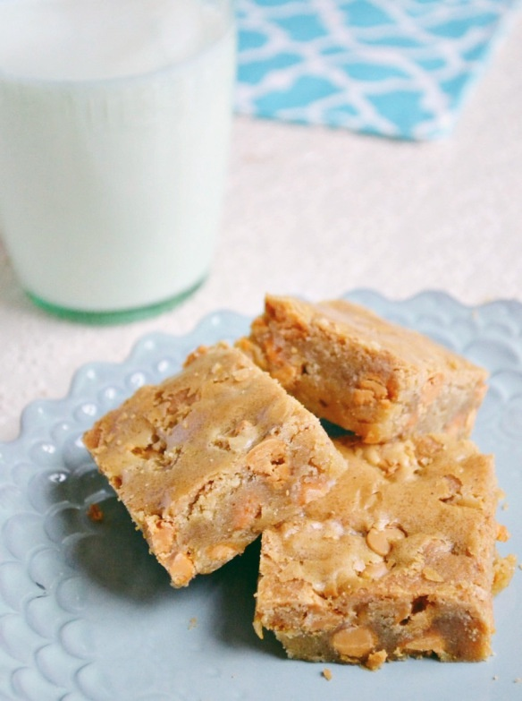 Butterscotch blondies- these are baking right now...