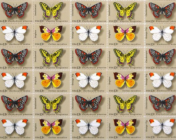 Butterfly 13 Cent Stamps
