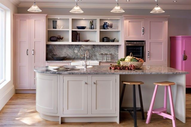 Blush Pink Kitchen Cabinets Pink Kitchen Pinterest