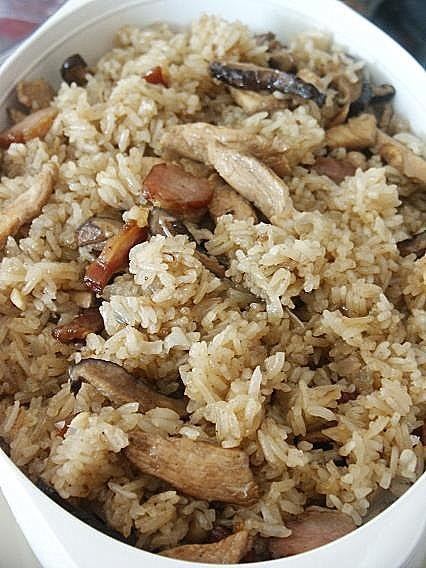 ... Steamed Glutinous Rice with Chicken and Shiitake Mushroom