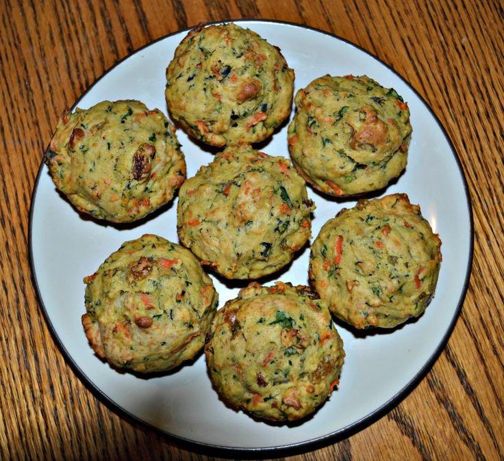 Spiced Carrot Kale Muffins on MyRecipeMagic.com