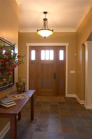 Foyer Front Door : Entryway foyer stone floor front door county line