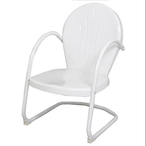 white retro metal tulip chair patio furniture