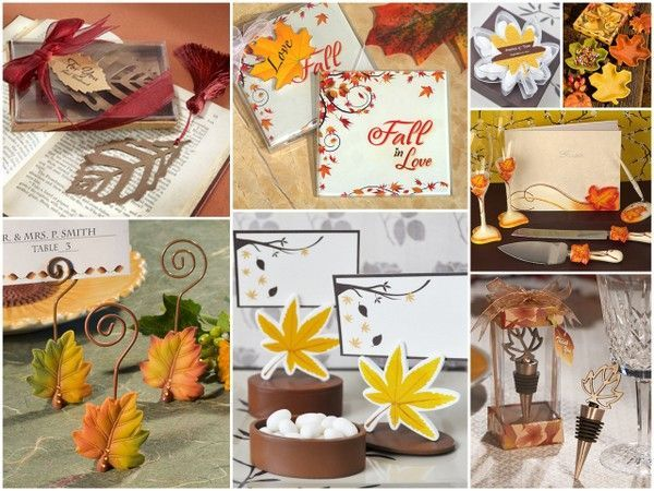 Fall Wedding Favor Ideas from HotRef.com