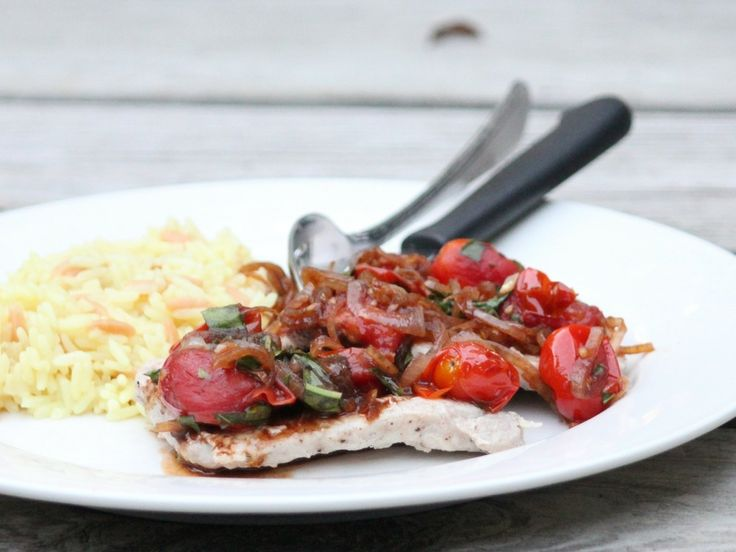pork and tomato skillet saute
