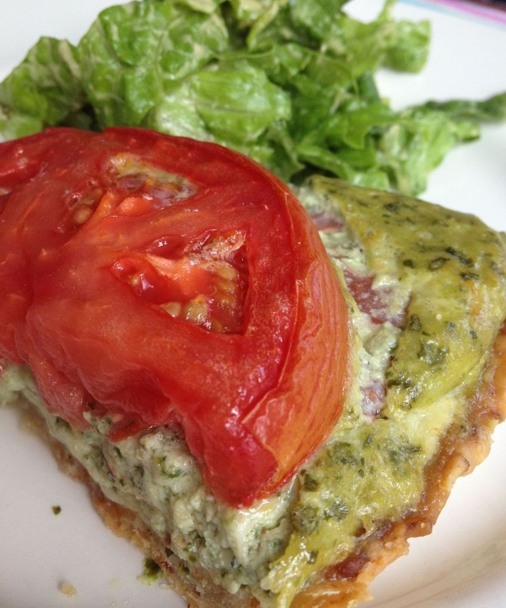 Tomato, Basil and Cheese Tart | Food/Drinks | Pinterest