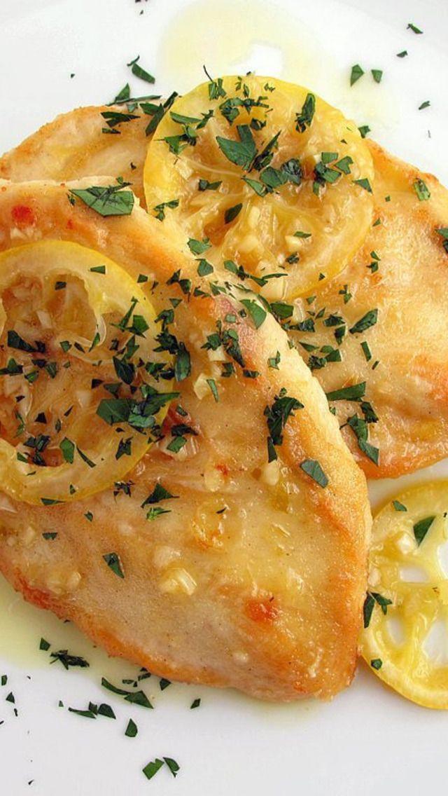 Chicken Scaloppine   Recipes   Pinterest