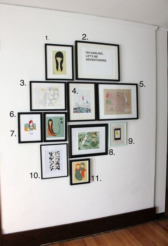 2 rules for hanging things on your walls cool ways to for Hanging frames on walls