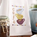 Cafe Towel, designed by Jennifer Mitchell, from Cross-Stitch & Needlework, September 2007.