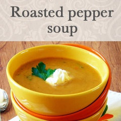 Roasted Red Pepper Soup With Smoked Paprika And Cilantro Cream Recipe ...