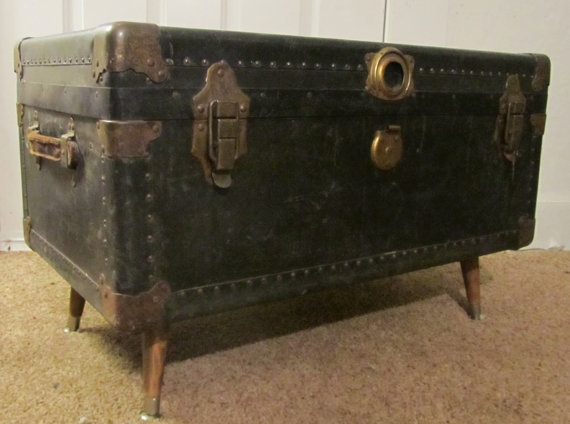 Steamer Trunk Coffee Table From House To Home Pinterest