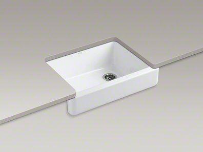 Self Trimming Farmhouse Sink : Kohler Whitehaven Farmhouse sink, this is enamel over cast iron