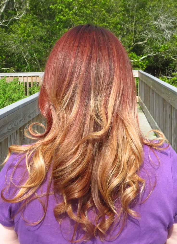 28 red to blonde ombre hair ombre hair red to