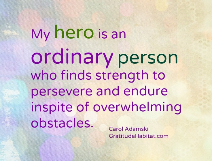 my everyday hero My heroes are the kinds of people who aren't recognized in our everyday lives, because what they do is in some weird way common, yet at the same time uncommon my heroes are the kinds of people who do the little things in life.
