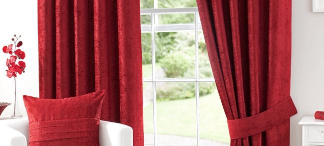 Dunelm Mill Red Chenille Curtain | Our Livingroom Refurb | Pinterest