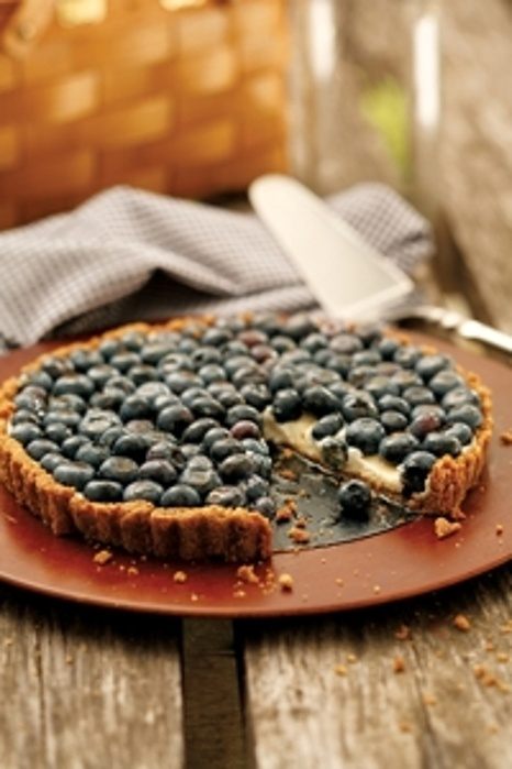 Blueberry Tart with Walnut Crust-I would adapt the crust to be GF and ...