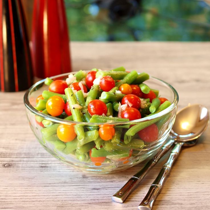 Green Bean Tomato Salad With Dijon Mustard Vinaigrette