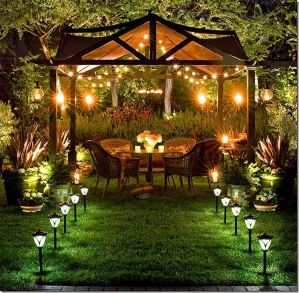 I love this gazebo outdoor space...