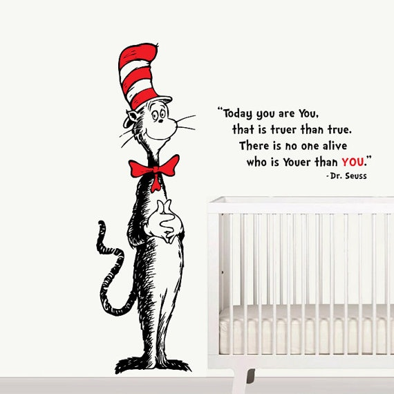 pics photos dr seuss cat in the hat wall stickers details about dr seuss thing 1 thing 2 choose one