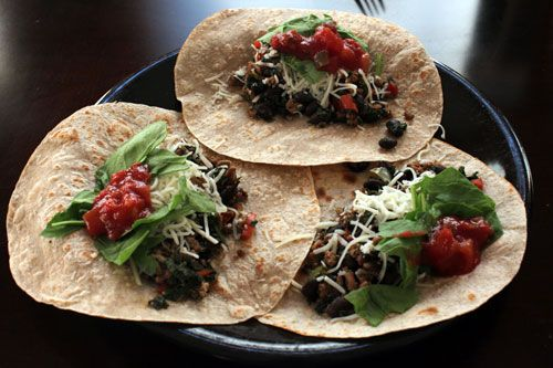 Kale, Turkey and Black Bean Taco Filling - soft shell only 5 WWP!