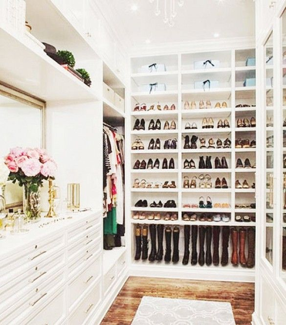 11 Closet Organization Ideas From Pinterest via @WhoWhatWearLove the bottom shelf for boots