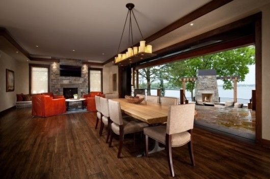 Rustic House Dining Room Modern Lakeshore Houses By Martha O 39 Hara