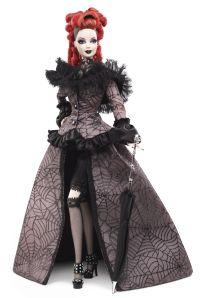 The 2013 National Barbie® Doll Collectors Convention Celebrating the mysterious magic of NOLA, La Reine de la Nuit™ Barbie®doll is designed by Edge of 17. .Platinum Label® Release Date: 7/10/2013
