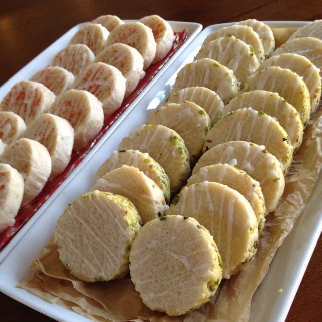 Pistachio shortbread cookies   Recipes~Cookies   Pinterest