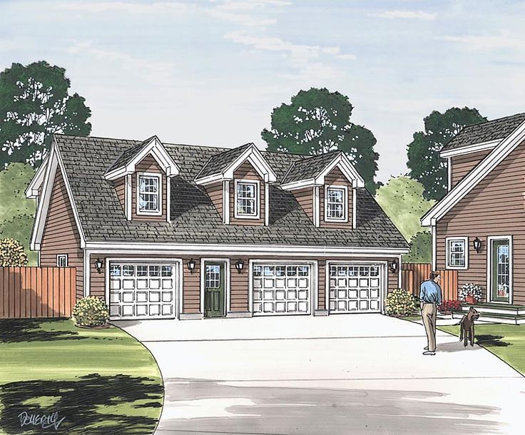 Cape cod saltbox traditional garage plan 30034 Saltbox garage plans