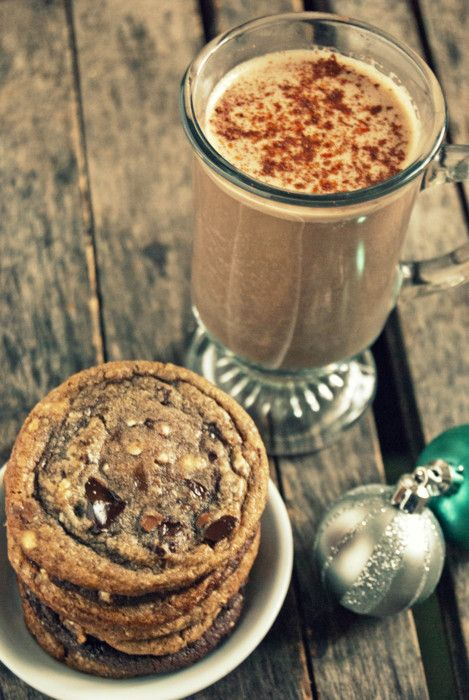 Chocolate Bourbon Eggnog. Sounds like a snooze is in order after ...