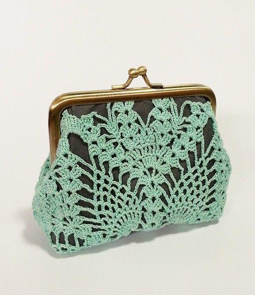 Pineapple Crochet Bag Pattern : Vintage Pineapple Doily Purse crochet - knitting....bolsos Pinter ...