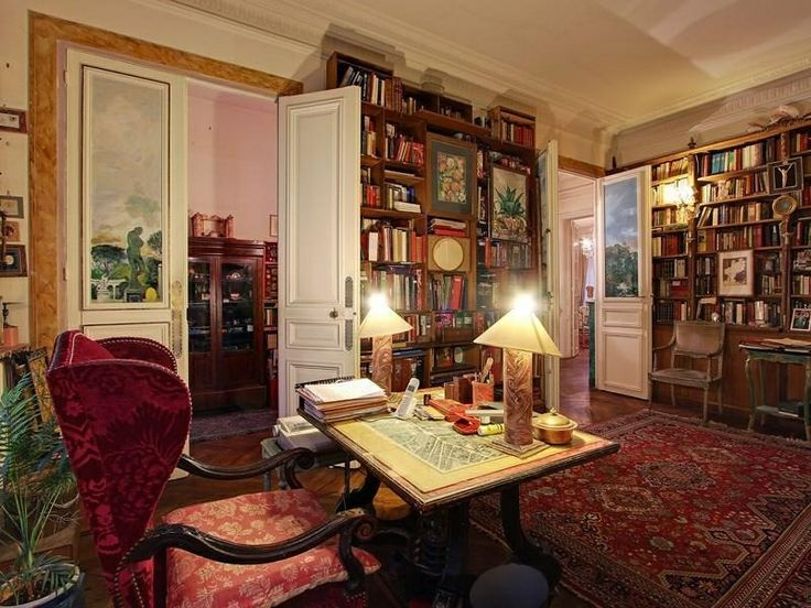 Paris Home Office Library Got To Be Cozy Home Libraries Pintere