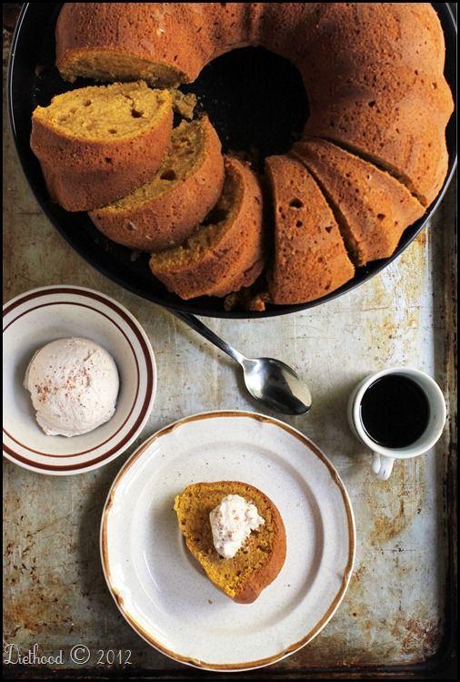 Pumpkin Spice Latte Bundt Cake with Espresso Whipped Cream for #Bundt ...