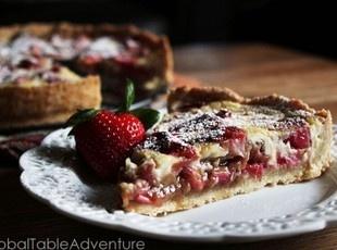strawberry rhubarb amp cream tart estonia