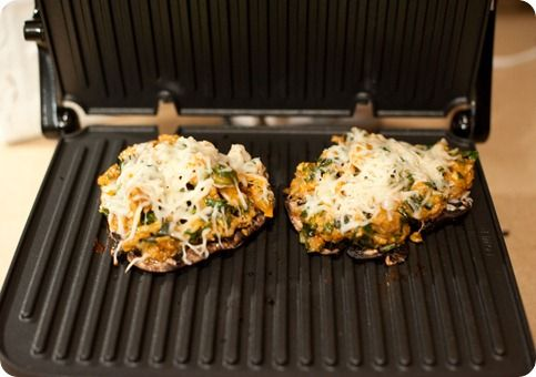 stuffed portobello mushrooms with spinach, sausage, and cheese ...