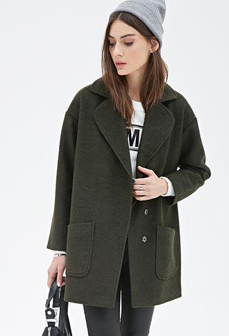 Textured Woven Overcoat | FOREVER21 - 2000100105