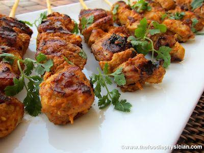 Tandoori Chicken Kebabs - wonderful aromatic marinade paired with ...