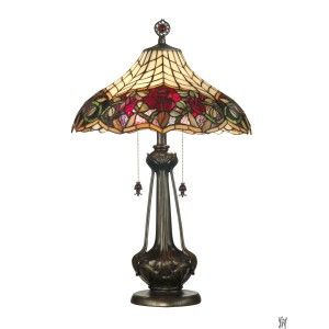 AUTUMN ROSE TIFFANY TABLE LAMP