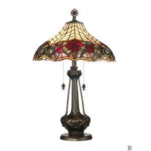 AUTUMN ROSE TIFFANY TABLE LAMP