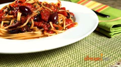 Pantry Puttanesca Allrecipes.com | dinner tonight | Pinterest