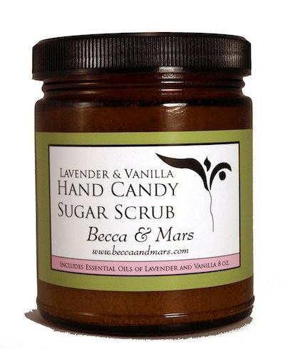 Lavender Vanilla Hand Candy Sugar Scrub by BeccaAndMars on Etsy, $9.50